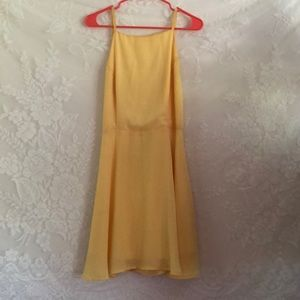 Wet Seal Dresses - Backless yellow dress